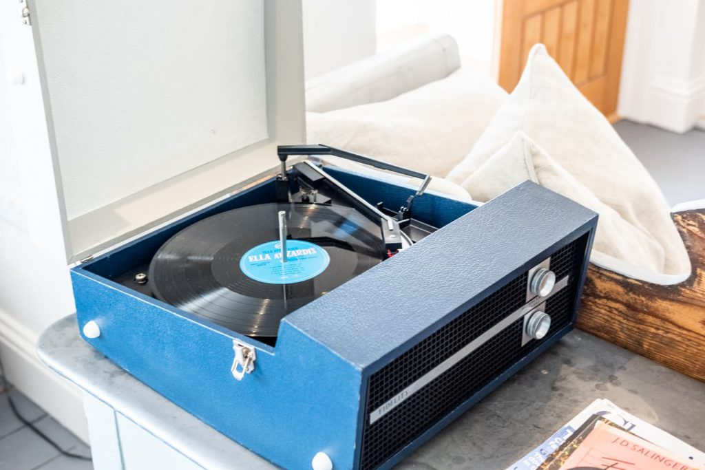 Record player at Hope Cove House