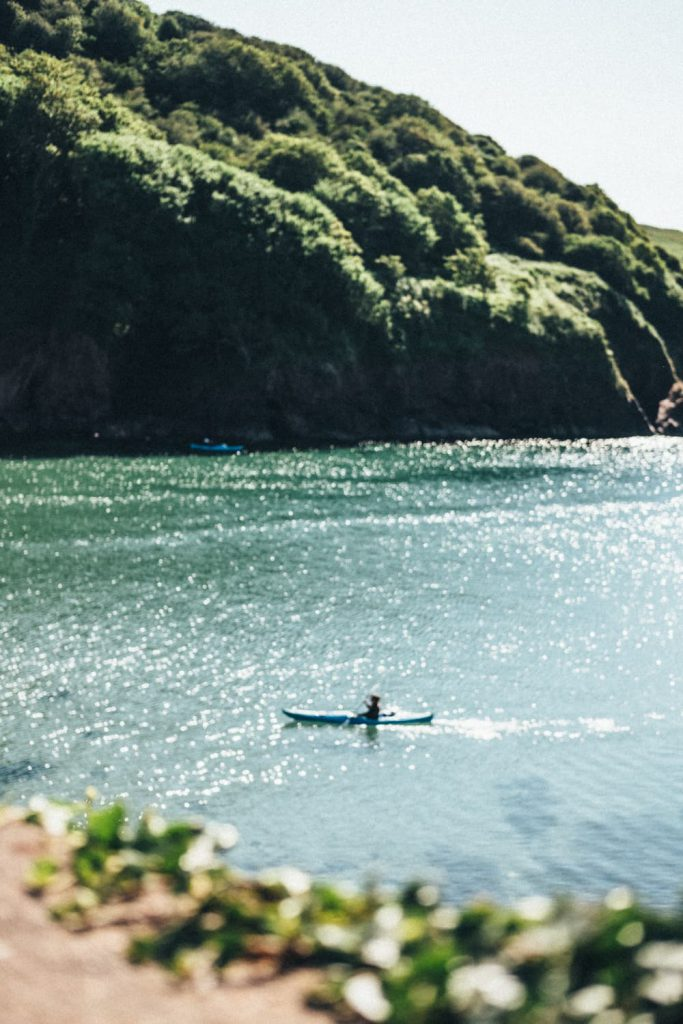 Paddler at Hope Cove House